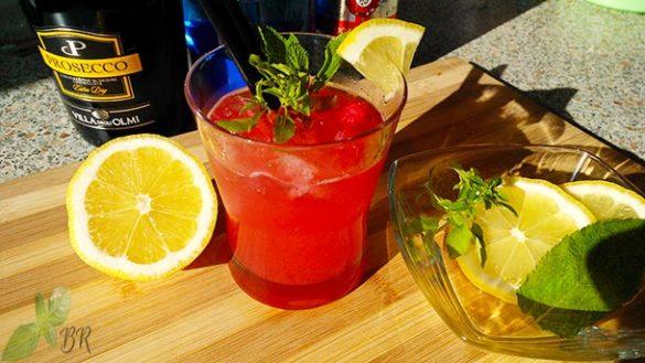 Raspberry-Herb Cocktail