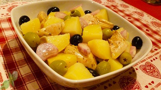 Salata orientala cu anghinare
