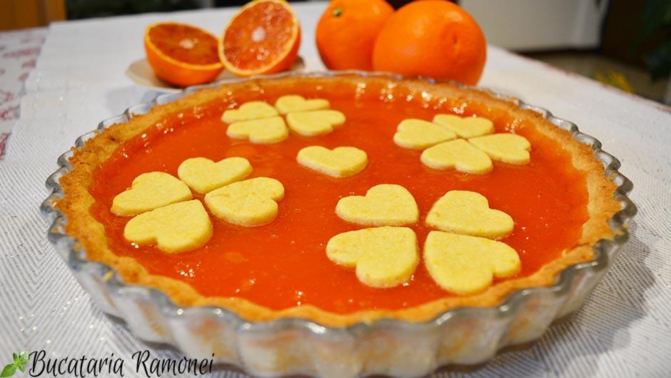 Tarta cu crema de portocale rosii