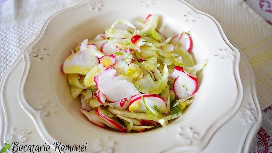Salata cu fenicul si ridichii
