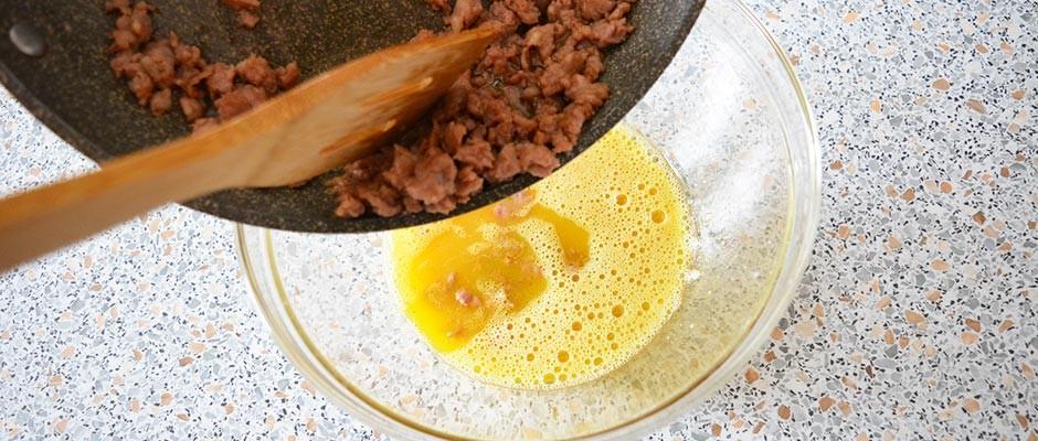 Frittata cu carnati