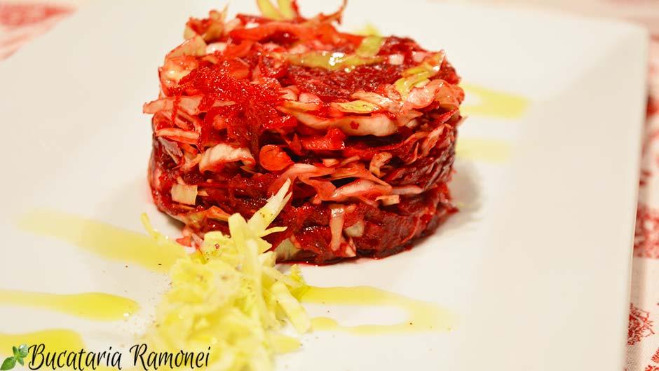 Salata de sfecla rosie si varza