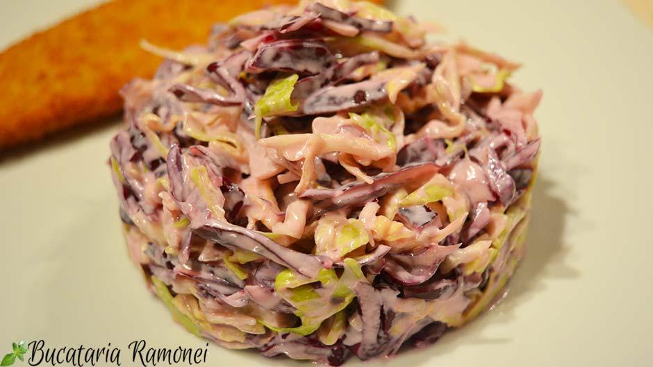 Salata de varza in doua culori