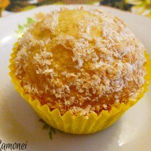 Muffin cu cocos si limoncello