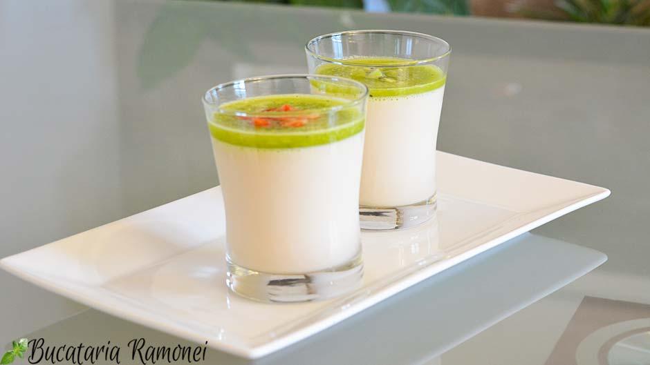Panna cotta cu lapte de soia