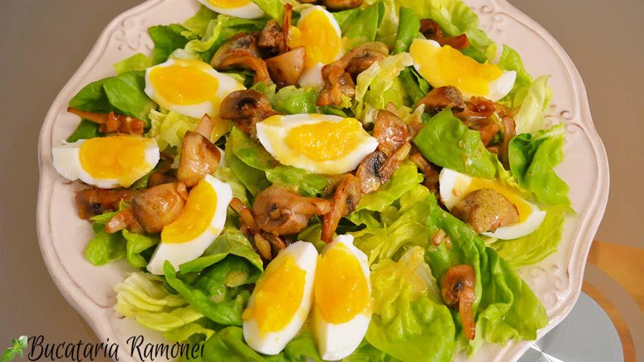 Salata de oua si ciuperci
