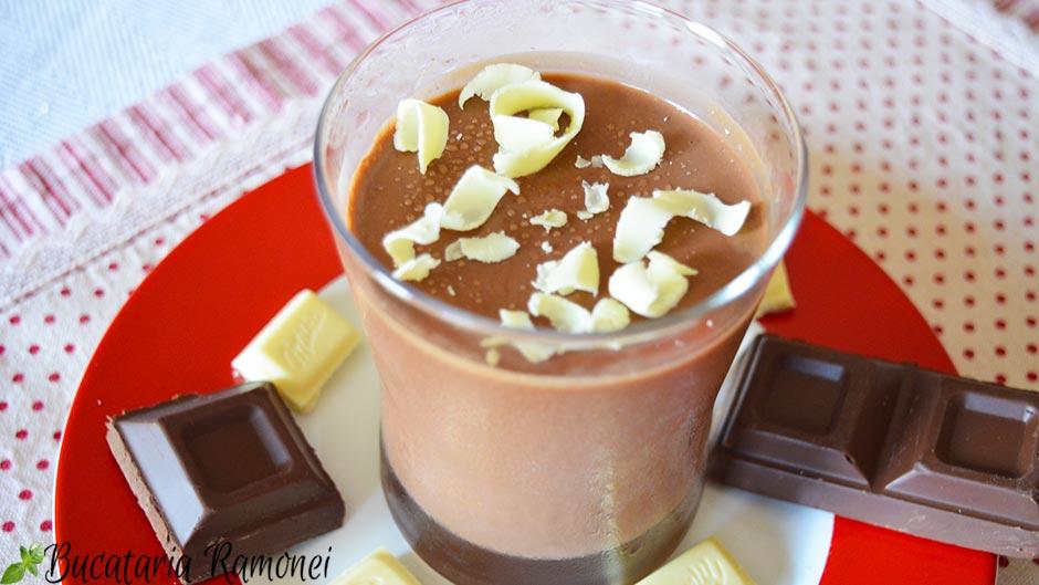 Panna cotta cu ciocolata