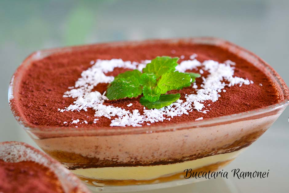 Tiramisu cu nuca de cocos si ciocolata