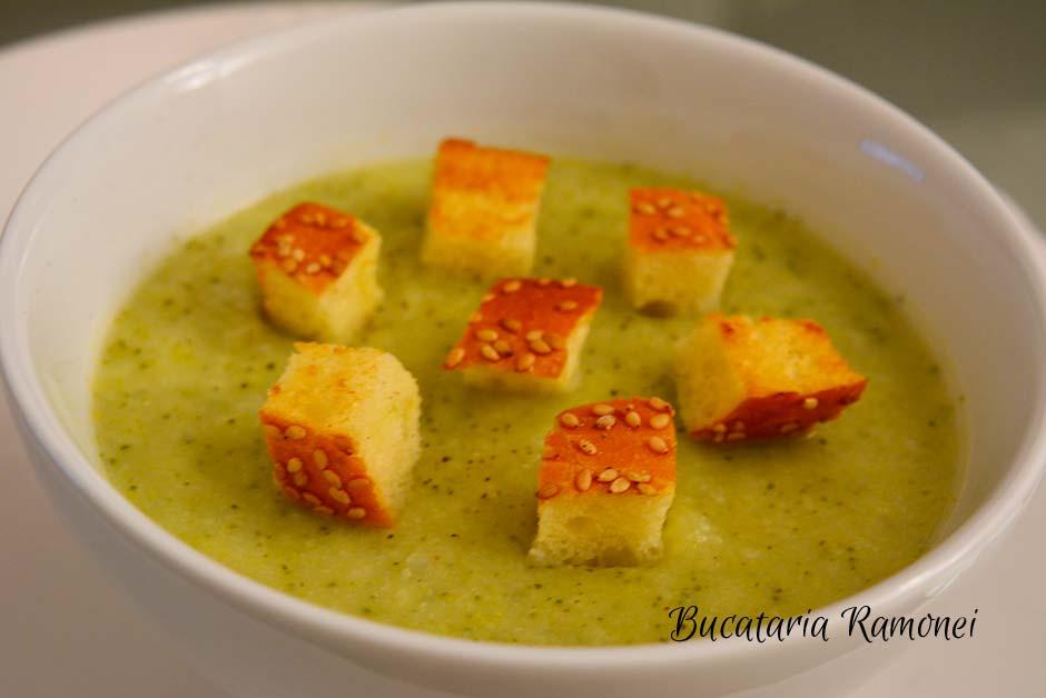 Supa crema de conopoida cu broccoli