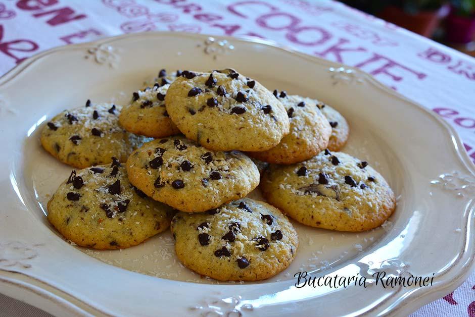 Cookies cu nuca de cocos si ciocolata