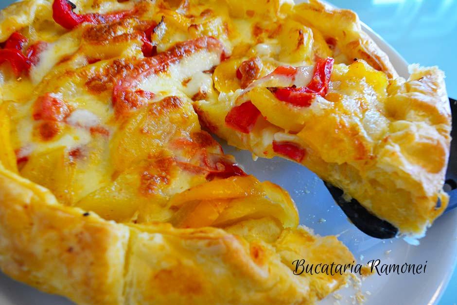 Tarta rustica cu ardei si cartofi