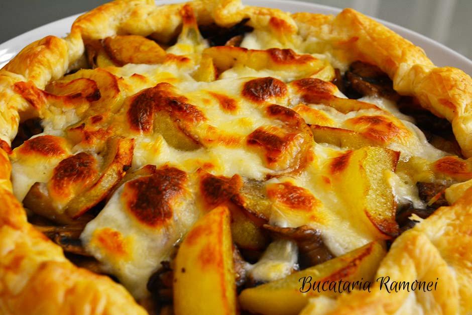 Tarta rapida cu ciuperci cartofi