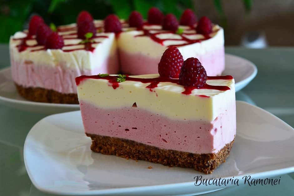 Cheesecake cu zmeura si ciocolata