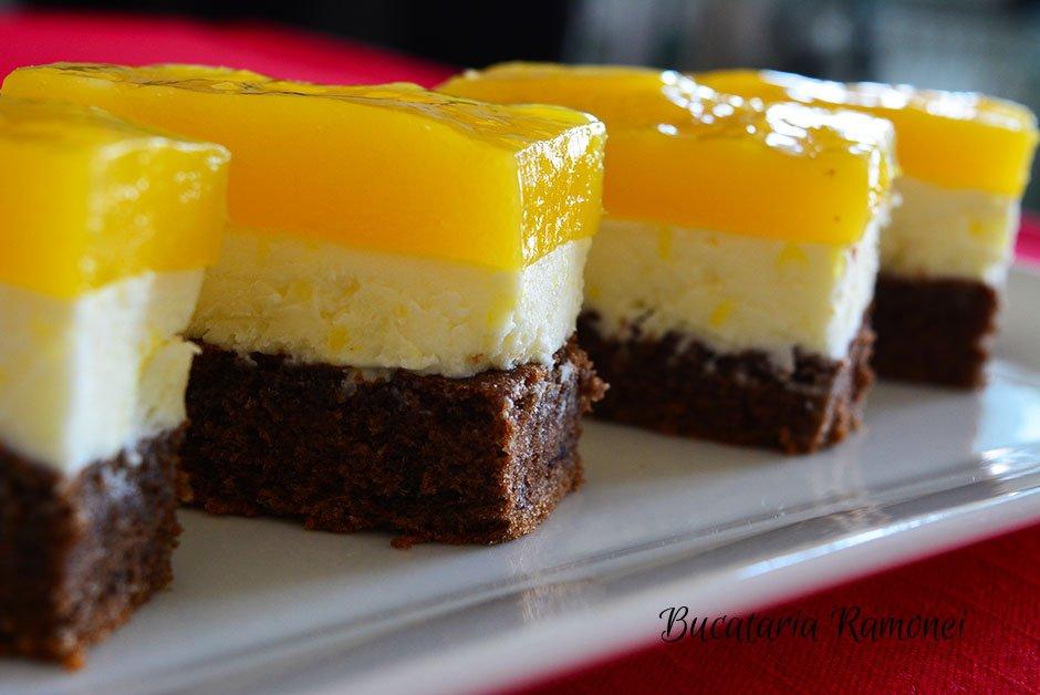 Prajitura cu portocale si crema de branza