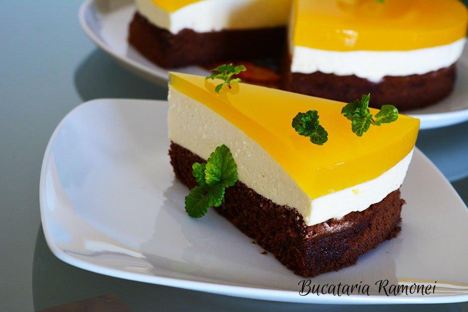 Tort cu crema de branza si portocale