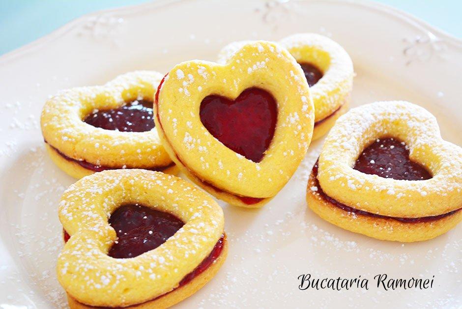Fursecuri inimioare cu dulceata de capsuni