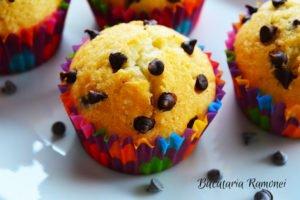 Muffins cu albus de ou si ciocolata