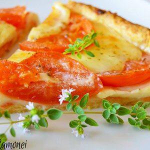 Tarta sarata cu rosii si mozzarella