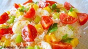Salata de orez cu rosii si ardei