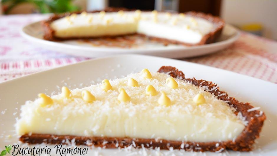 Tarta la rece cu crema de lapte si biscuiti