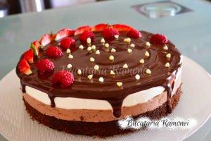 Tort duo cu ciocolata si vanilie