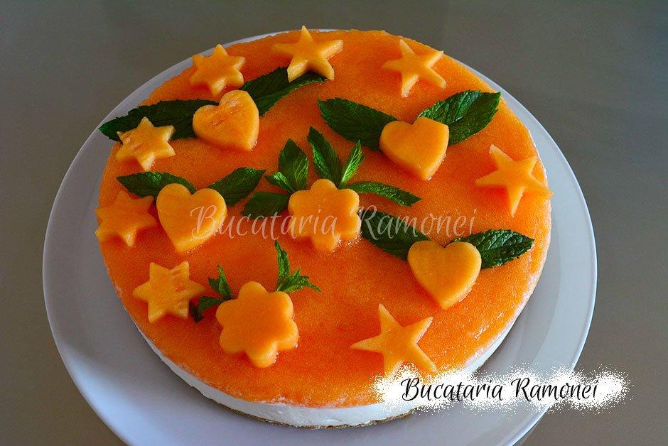 Cheesecake cu pepene galben