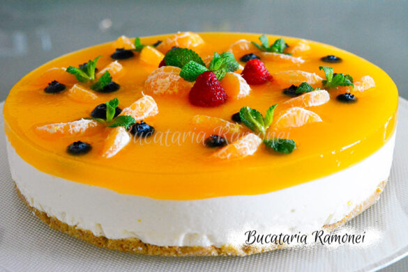 Cheesecake cu clementine