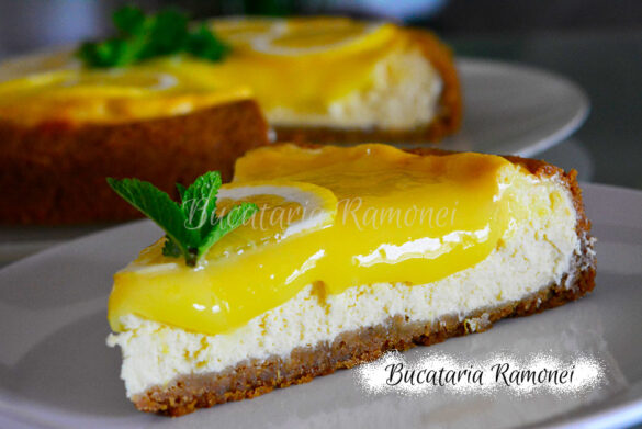 New York cheesecake cu lemon curd